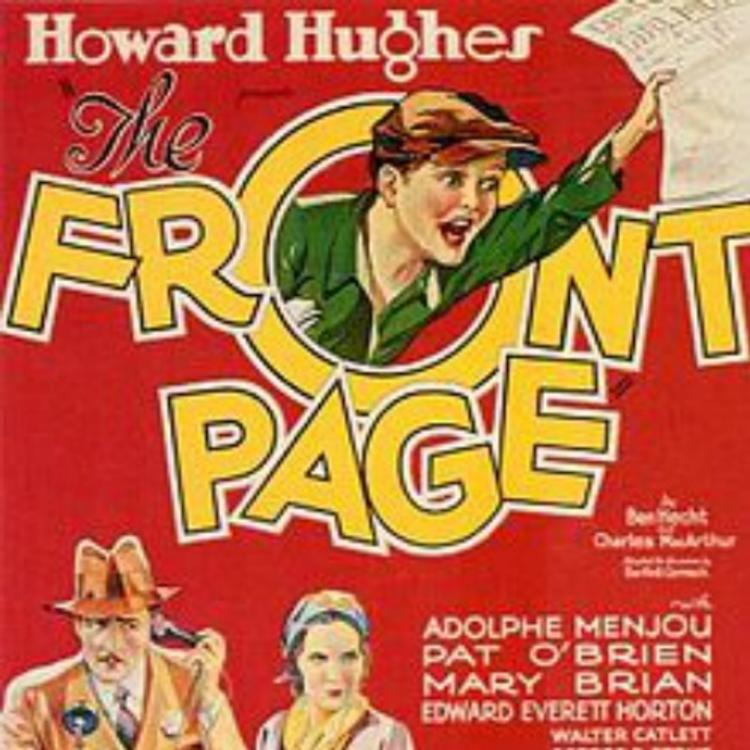 Poster image for the film, The Front Page
