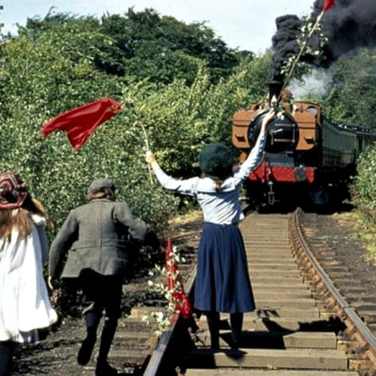 Colour film still of The Railway Children