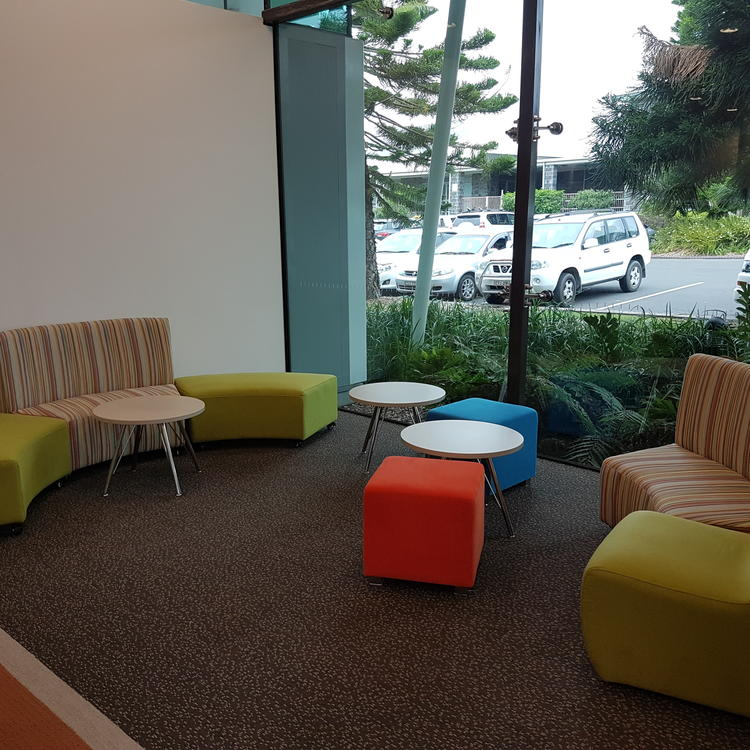 Seats and a table in Ulladulla Library