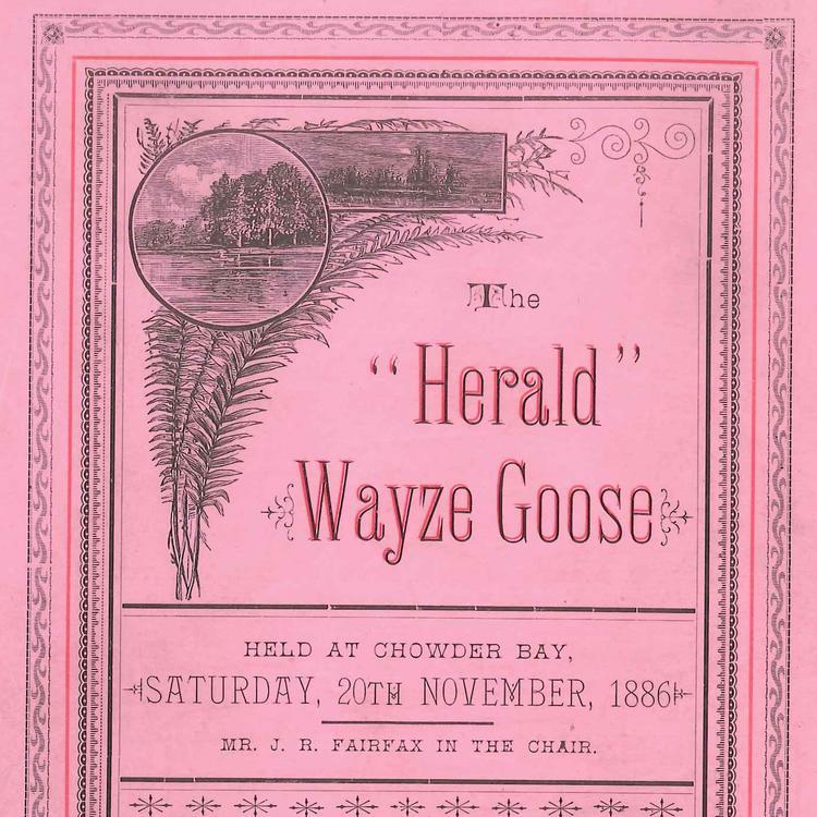 Wayze-Goose Programme 1886