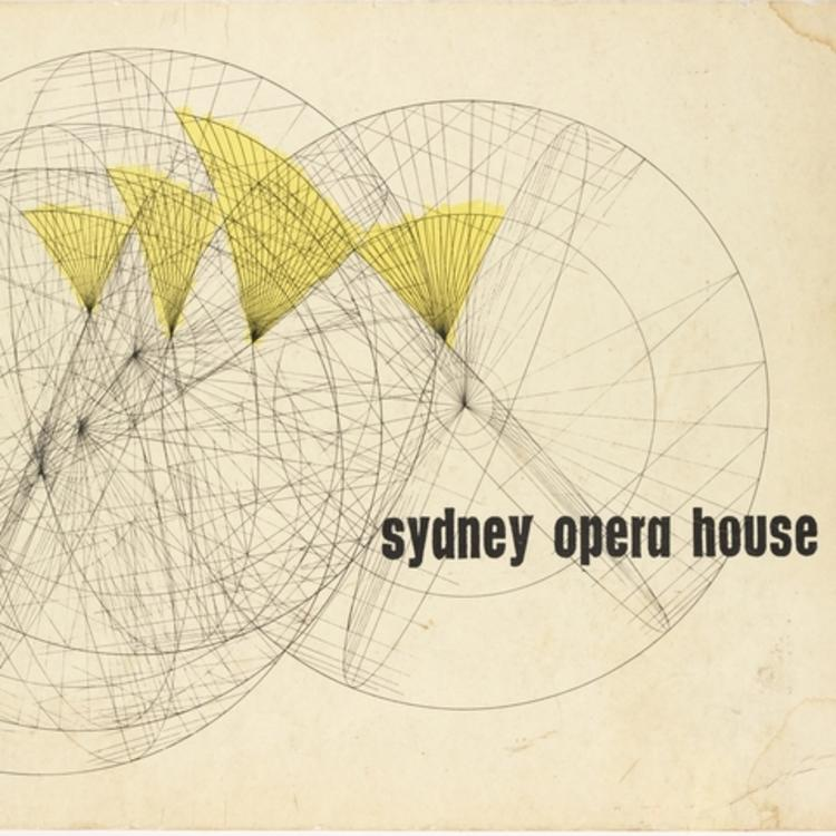 SYDNEY OPERA HOUSE  YELLOW BOOK DRAWING 1962