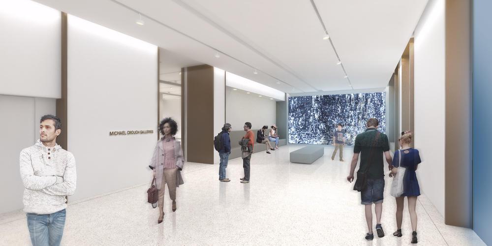 Artist's impression of ground floor circulation galleries. Source: Hassell