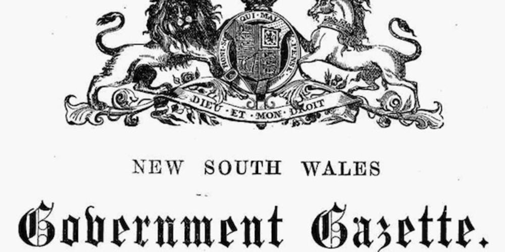 NSW Government Gazette