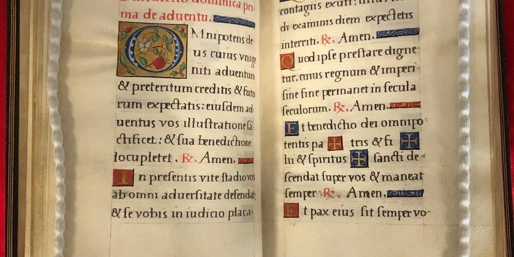 A manuscript on vellum