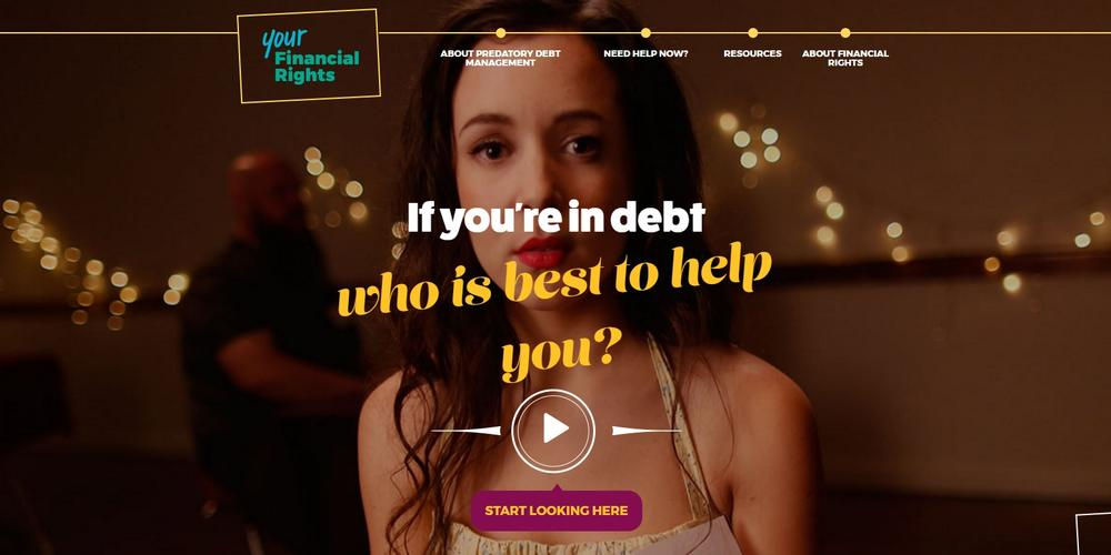 financial rights legal centre debt video