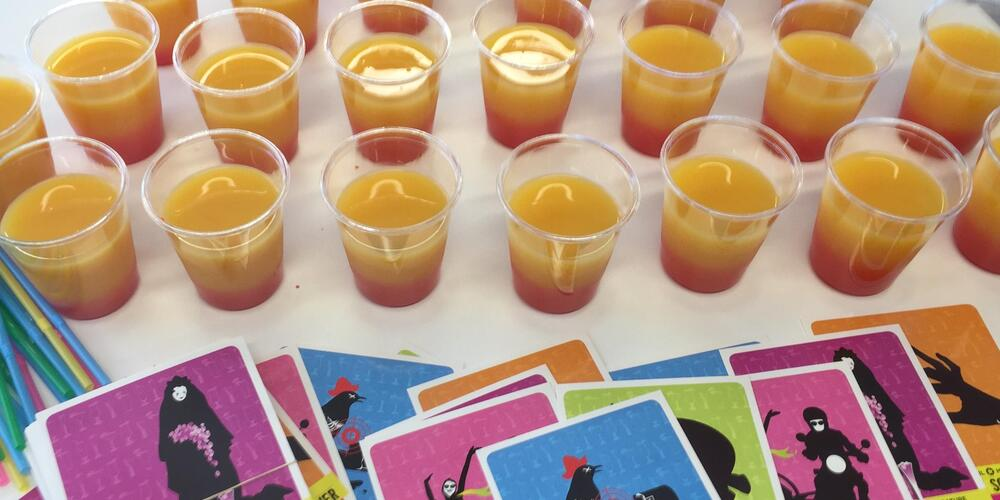 literary mocktail postcards and drinks