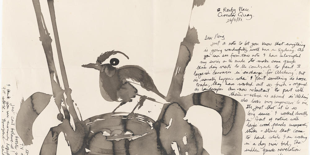Brett Whiteley letter to his mother, 1981