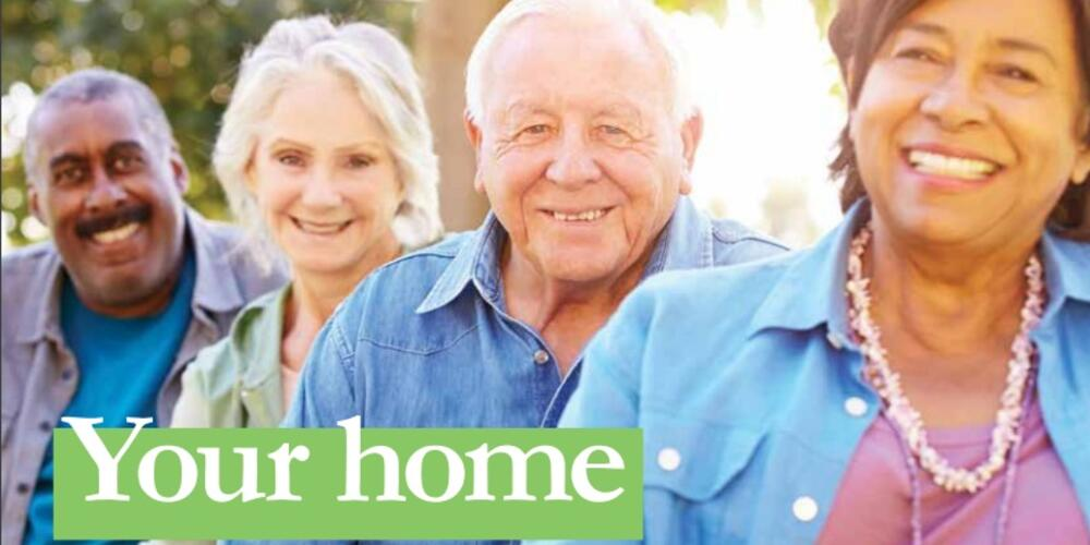 Cover image of legal aid resource showing four smiling older people