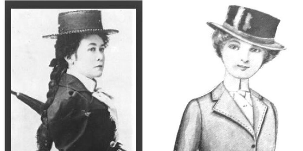 MILES FRANKLIN, 1901, ALONGSIDE A MADAME WEIGEL PATTERN