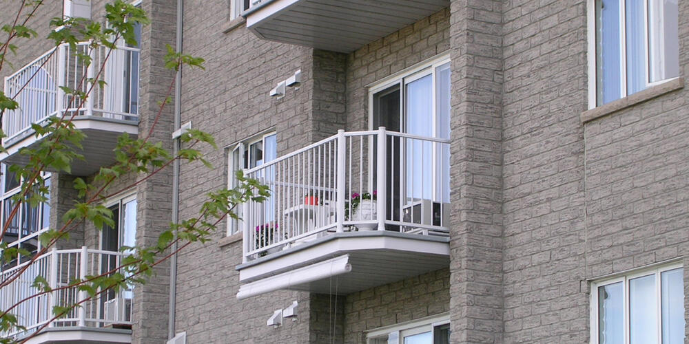 Photo of a building with balcony