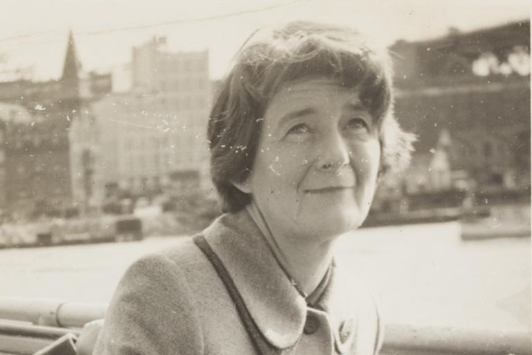 Photograph of Mona Brand on ferry