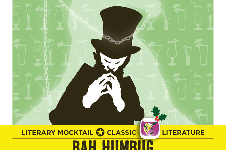 Bah Humbug literary mocktail card