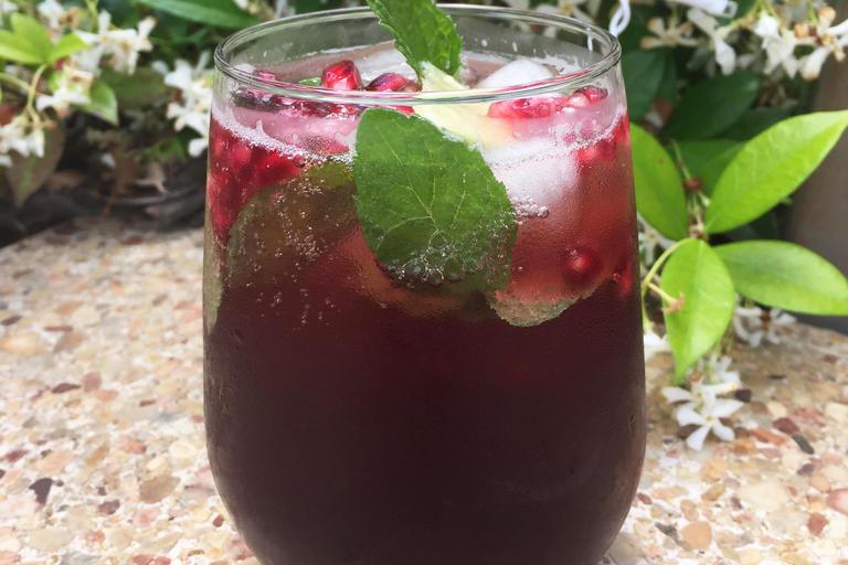 Pomegranate mocktail
