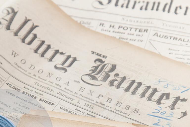 Make copies of newspapers on microfilm