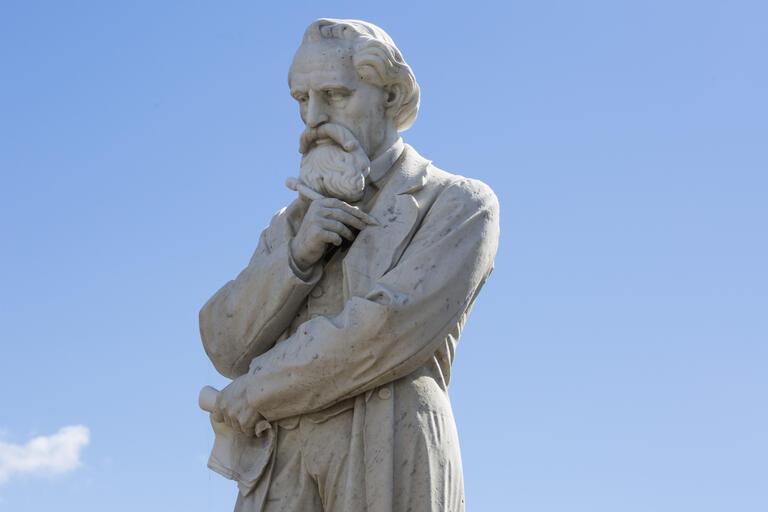 Charles Dickens Statue. Sculptor Job Hanson (probable). Location Centennial Park