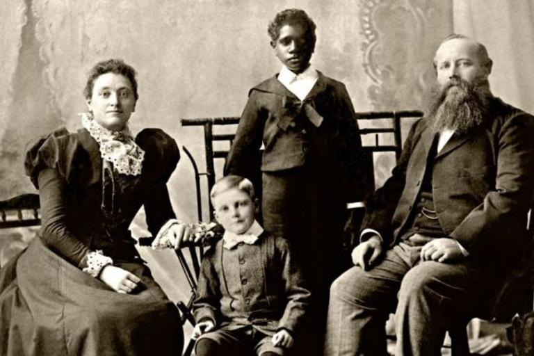 photograph of grant family