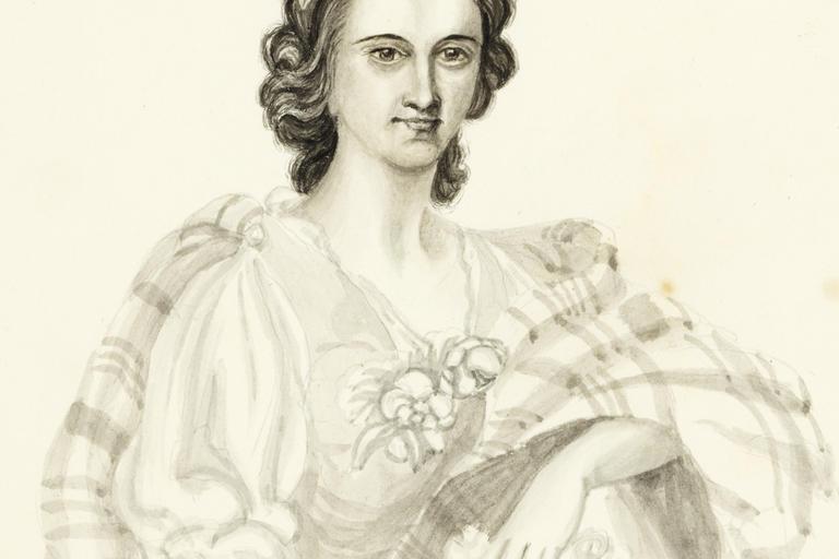 Self-portrait of Charlotte Waring Atkinson, c 1842–46