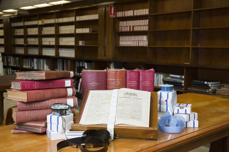 NSW Government Gazette in the Mitchell Library Reading Room