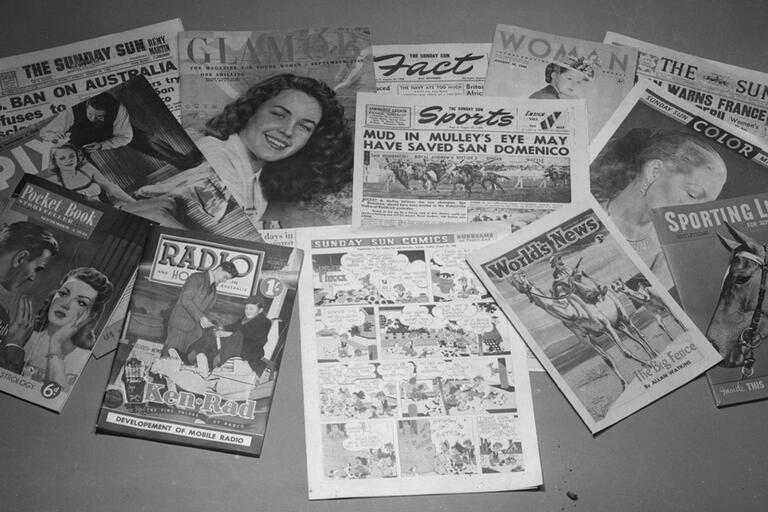 Newspaper and magazine covers