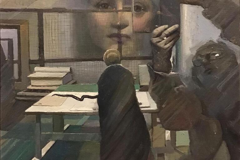 Hadyn Wilson painting in response toBertha Lawsonby Florence Rodway, c 1913