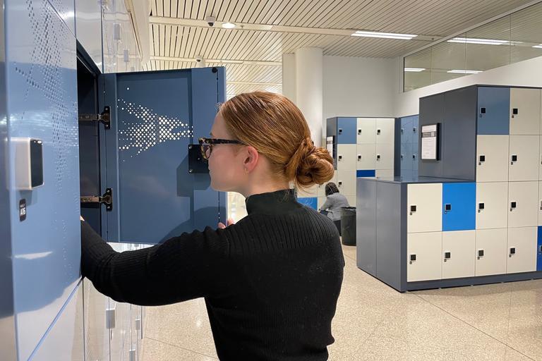 photo of locker being used
