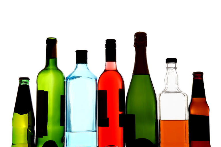 Group of alcohol bottles