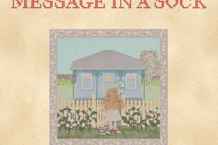book cover image of message in a sock