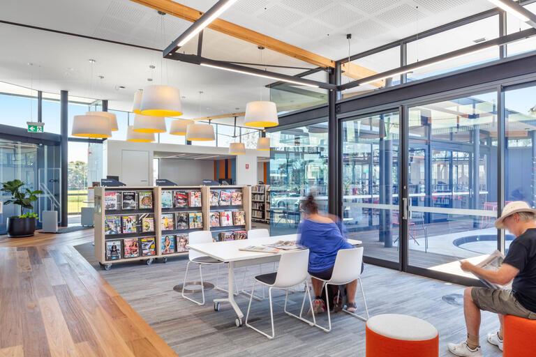 Interior of Warilla Library
