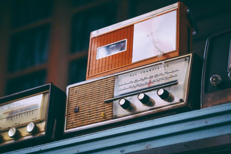 Old radio image