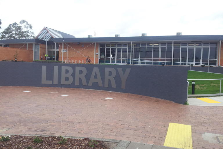 External library sign at Raymond Terrace library