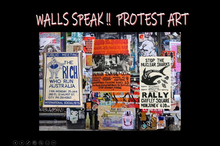 Walls Speak!! Protest Art