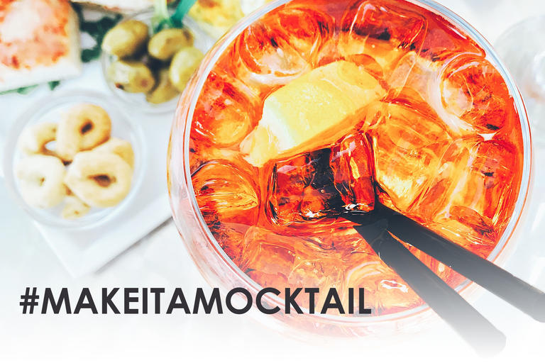 Make it a mocktail and glass