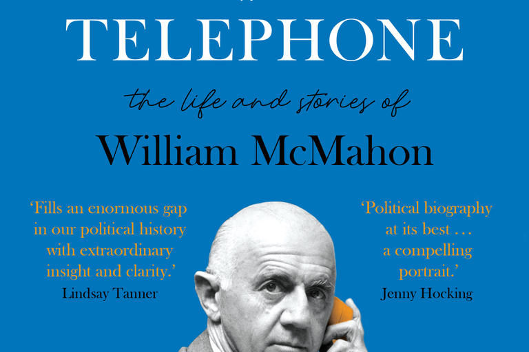 Cover image of Tiberius with a telephone