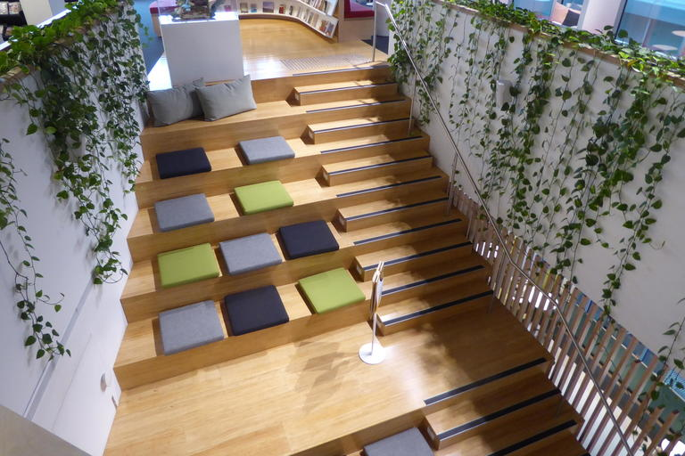 Woollahra Library at Double Bay stairs and seating