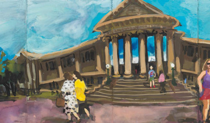 Wendy Sharpe's painting of the Mitchell Library