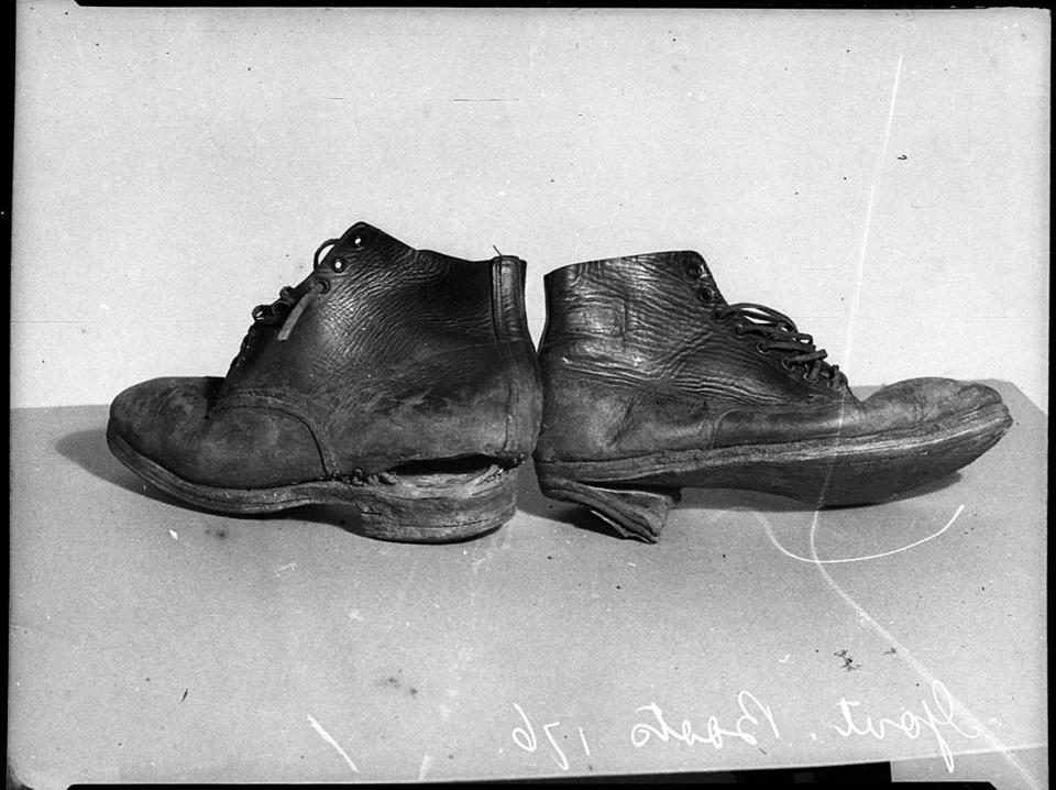 Low quality government boots issued as depression relief