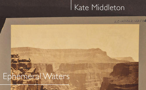 Cliff faces on book cover of Ephemeral Waters by Kate Middleton