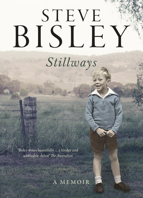 Australian actor Steve Bisley as a child standing in a field for book cover of Stillways, A Memoir by Steve Bisley
