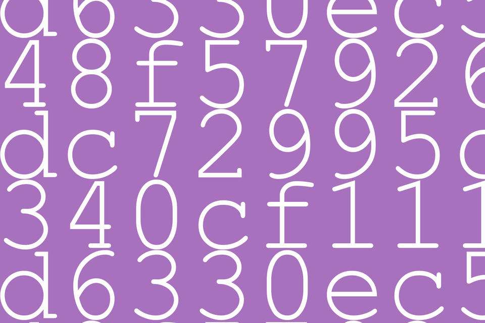 Random text and numbers, similar to what a checksum may look like