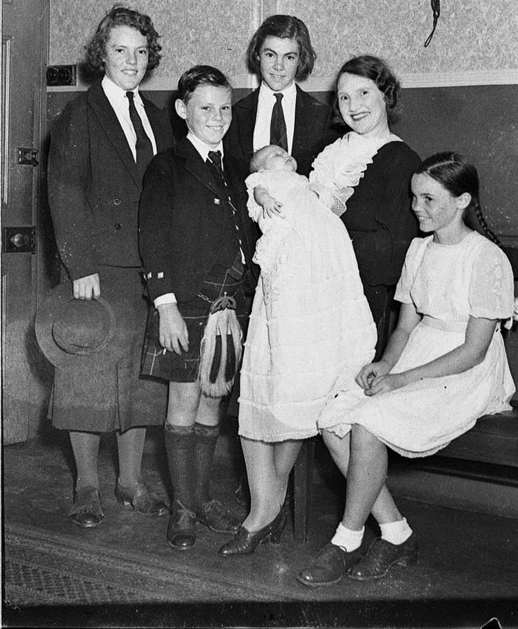 Christening of son of Mr and Mrs Archer Whitford, CM Mission 1937