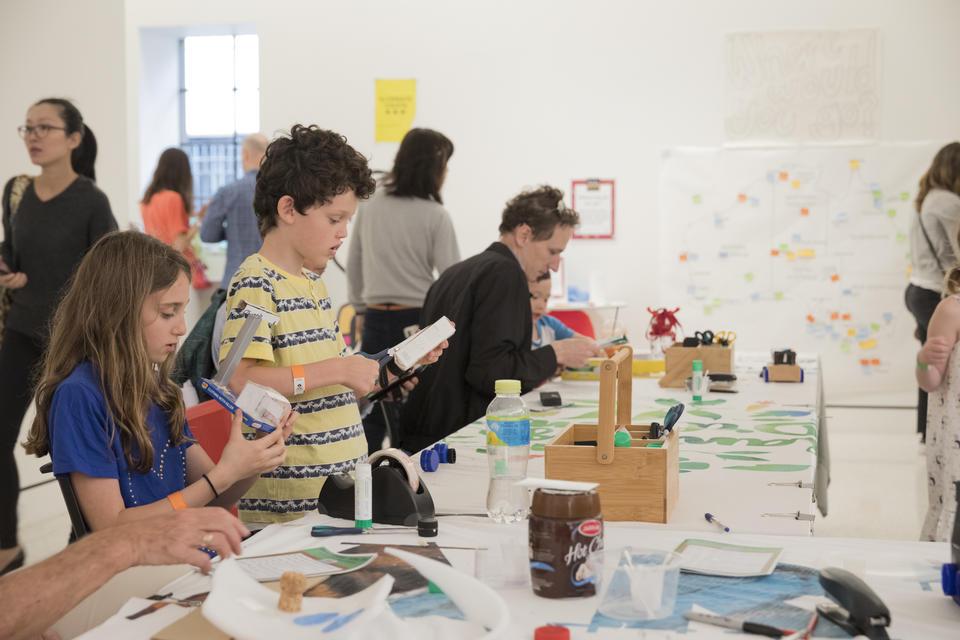 Children taking part in craft activities