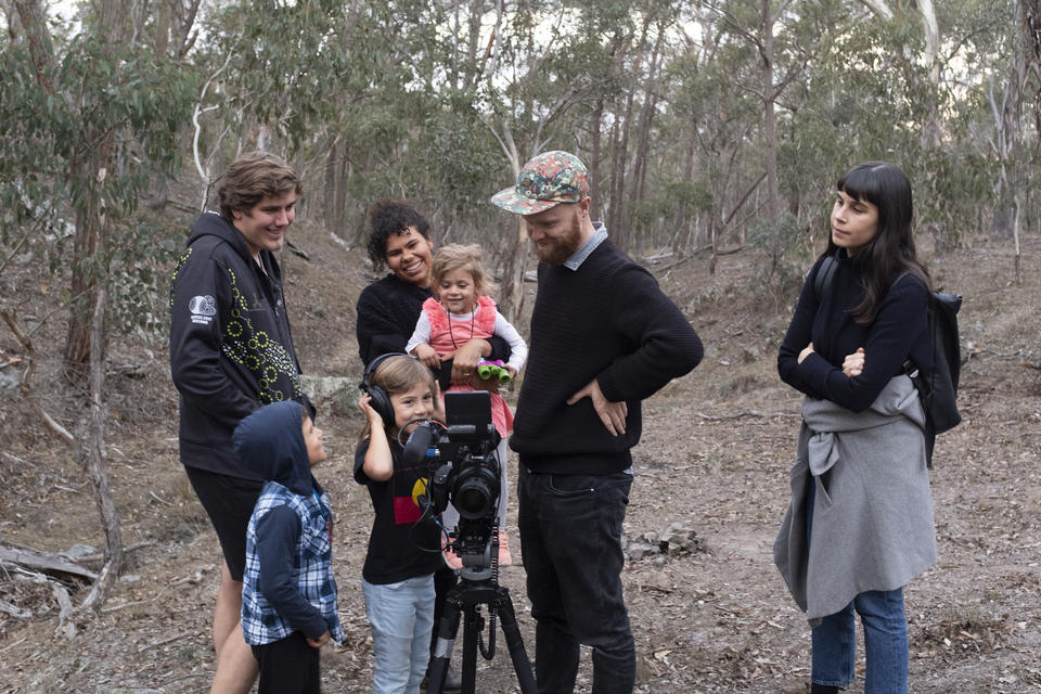 Filming at Yina Nature Reserve. Photo by Joy Lai.