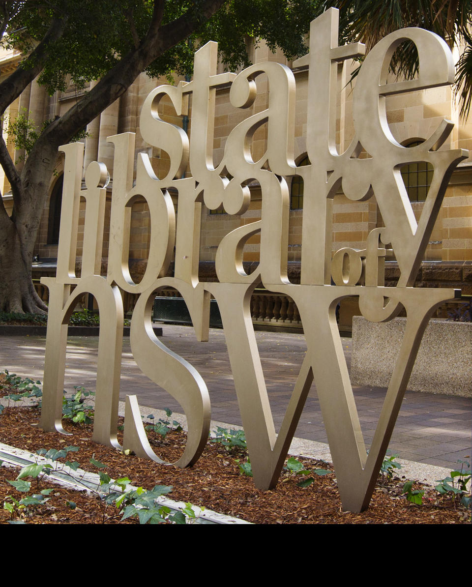 State Library of NSW exterior sign
