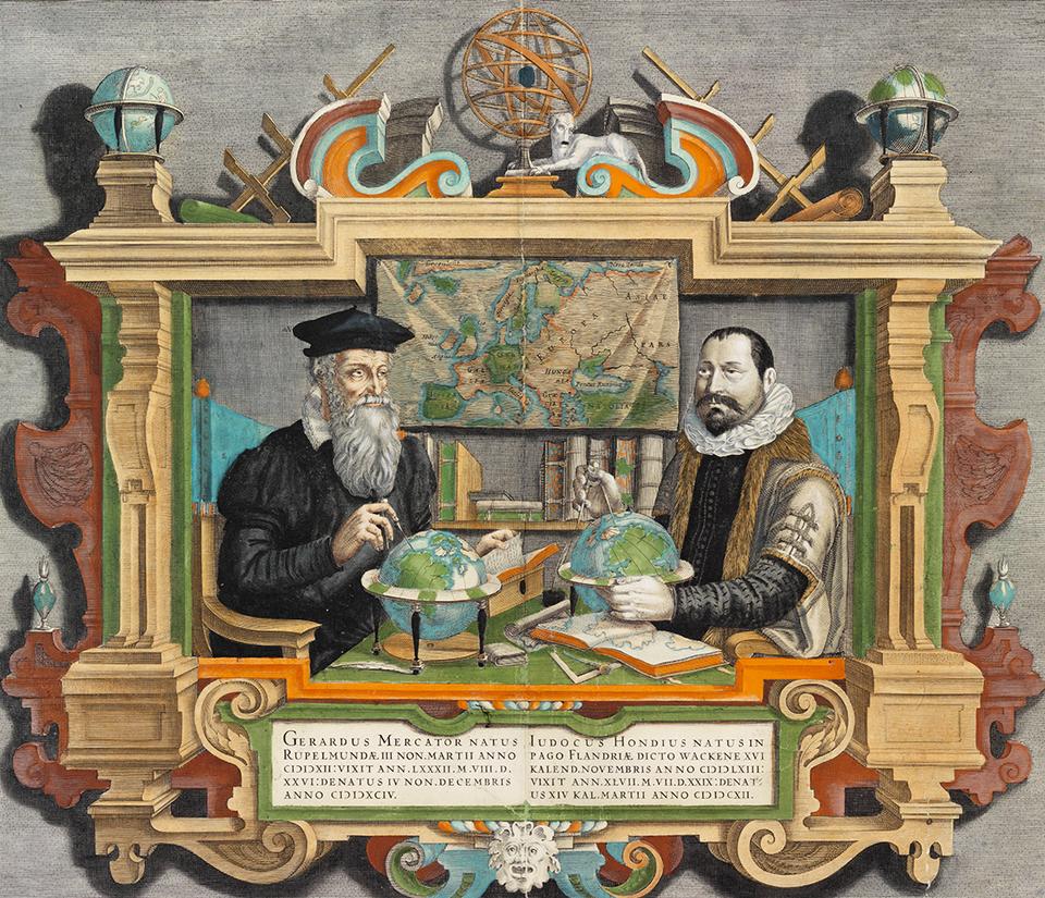 Gerardus Mercator...Iodocus Hondius...[portraits], 1619
