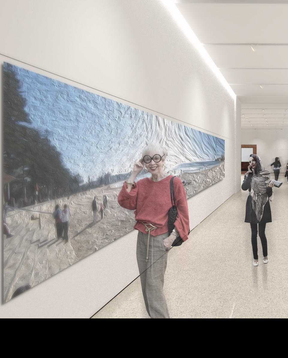 Proposed new galleries in the Mitchell building