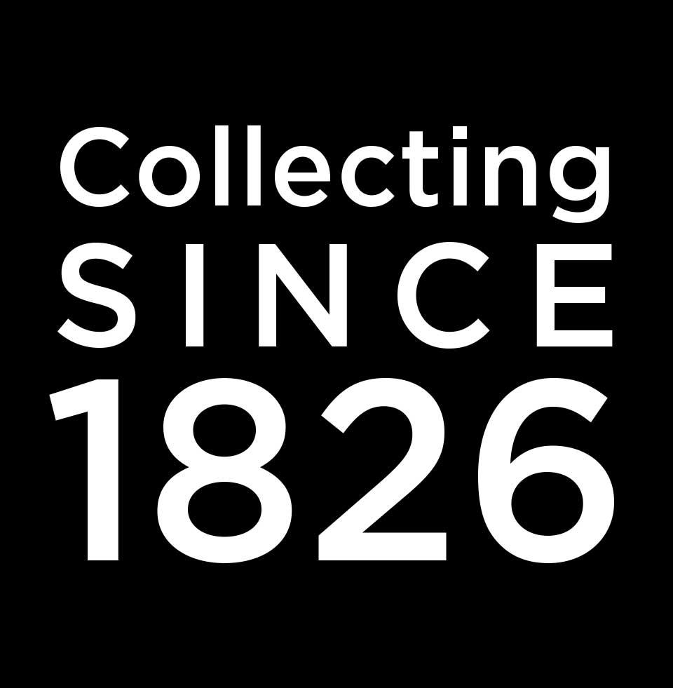 Collecting since 1826 graphic