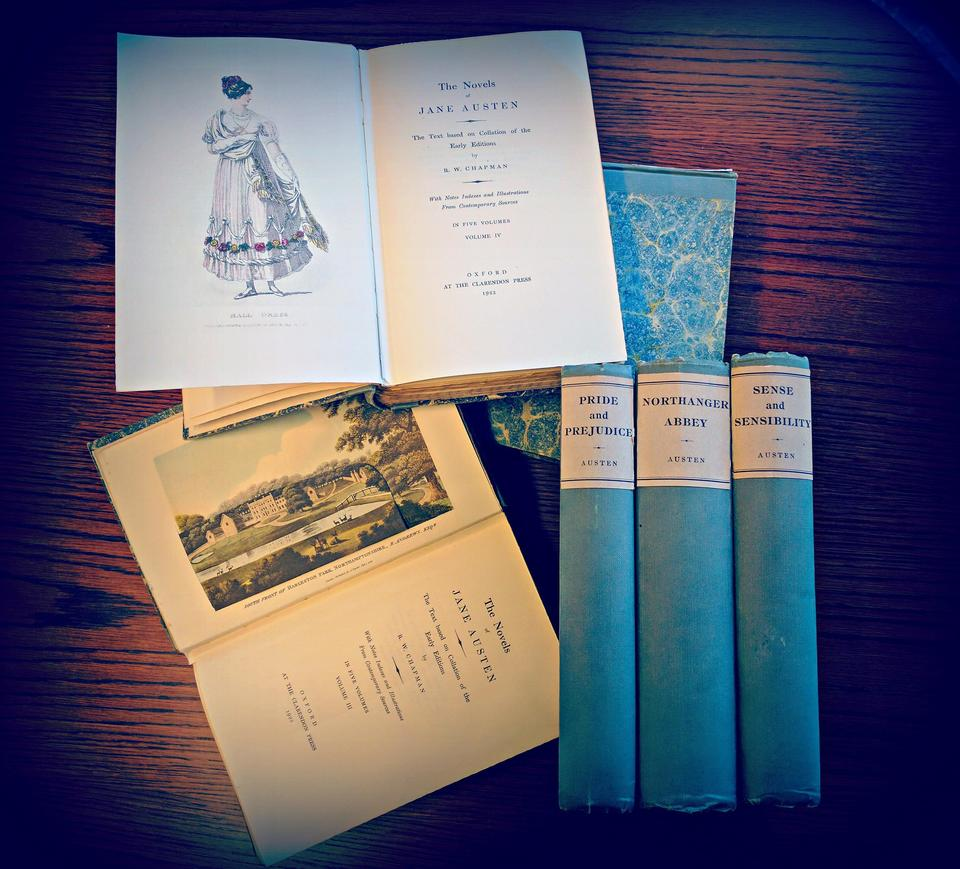 1923 edited of Jane Austen's works by R.W. Chapman and published by Clarendon press in Oxford