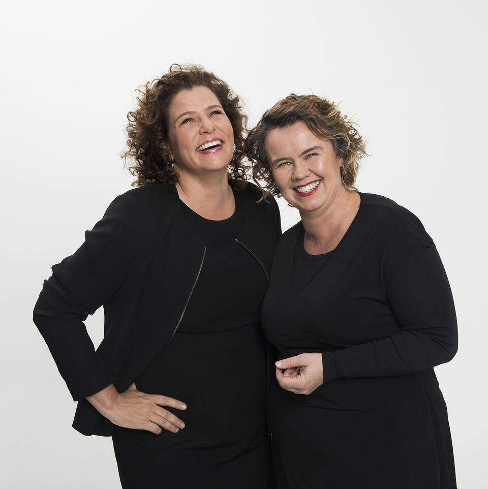 The hosts of Radio National's 'The Bookshelf'