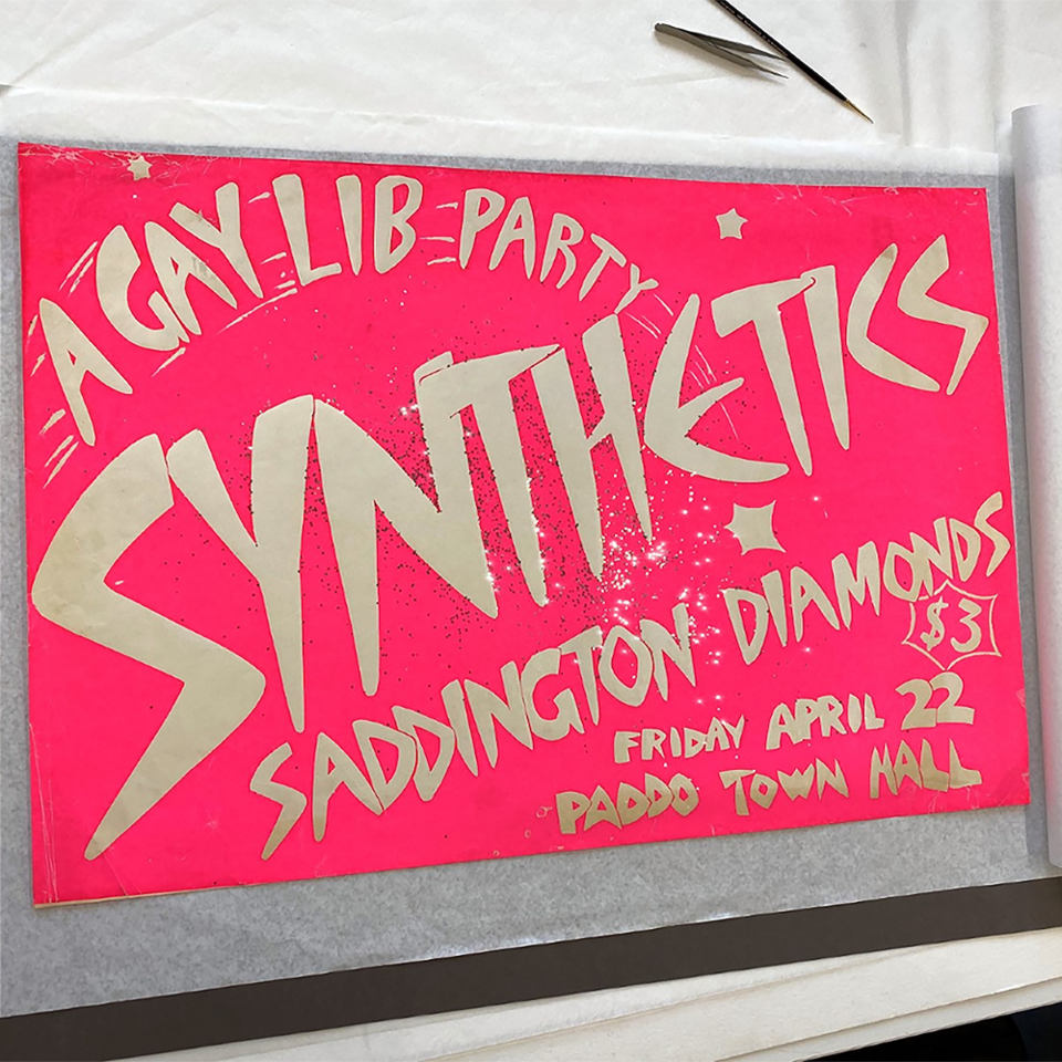 'A Gay Lib Party Synthetics' poster, 1977