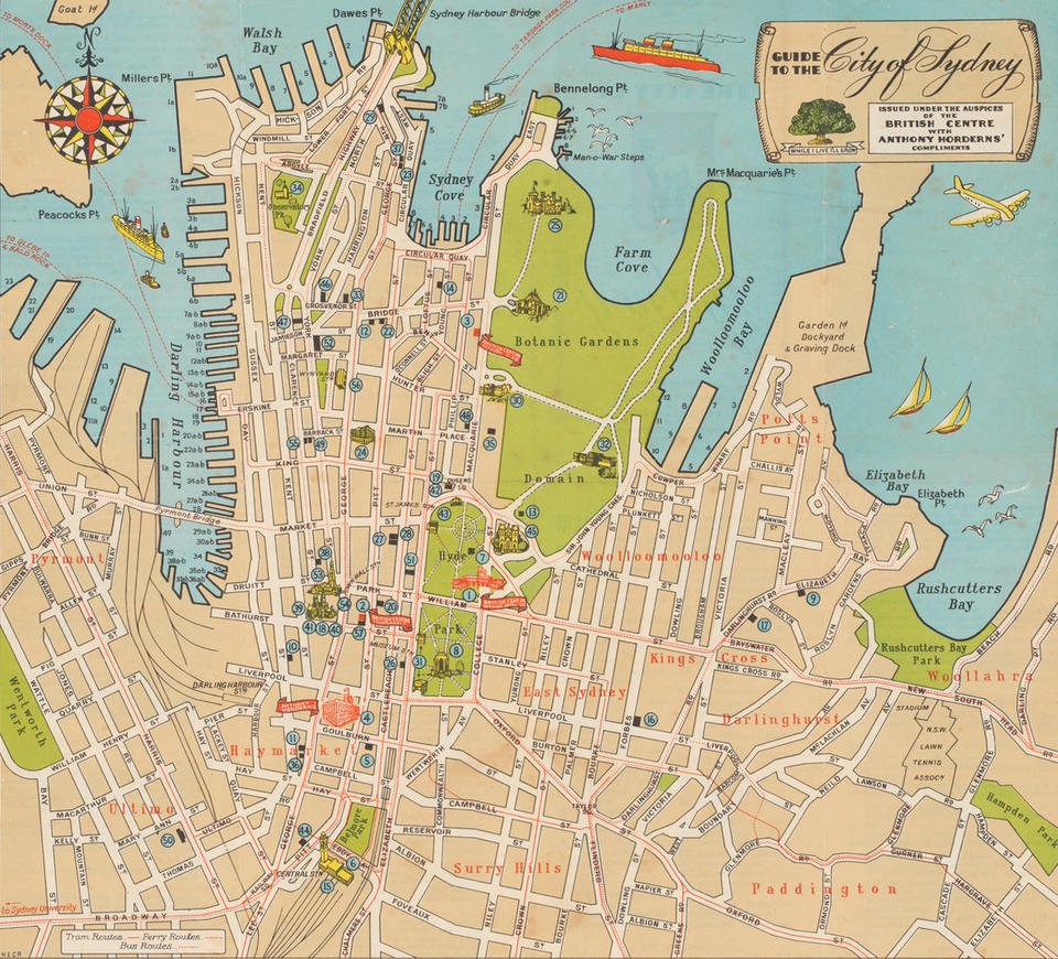 Map of Sydney.